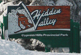 Ski Hidden vallet Sign